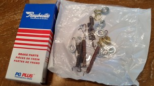 Toyota corolla rear brake hardware kit.