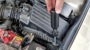 removing air filter housing screws