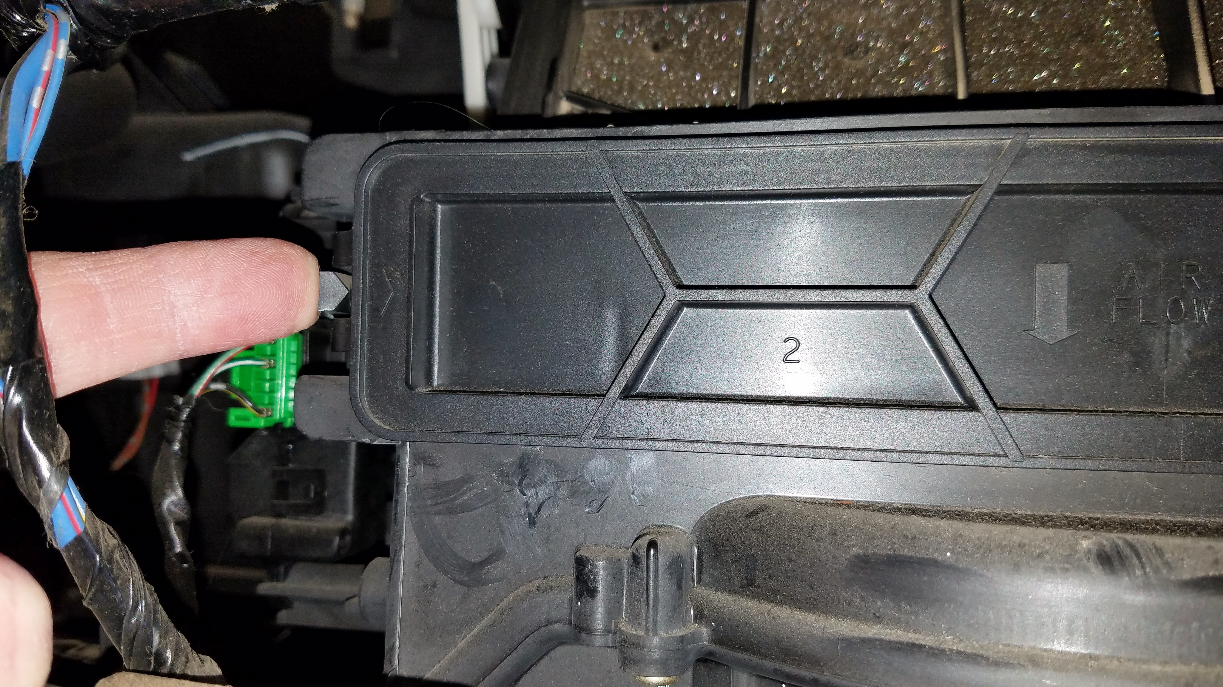 Honda Accord Cabin Air Filter Release Left