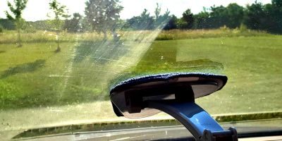 Clean the scum off the inside of the windshield