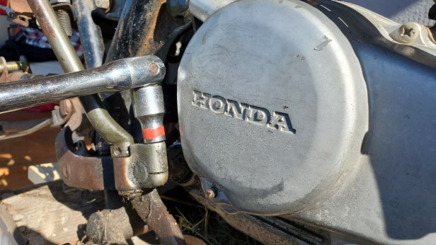 remove the kickstarter honda xl100s motorcycle