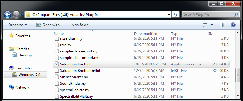 Softube-dll-location-Audacity