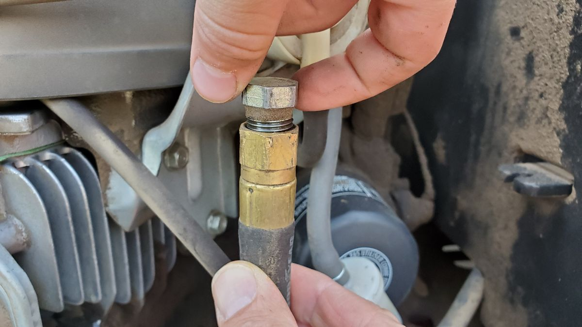 remove the oil plug
