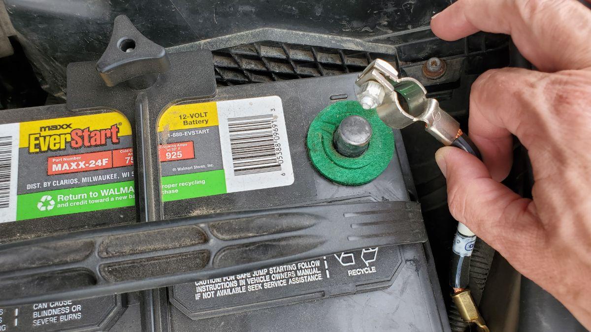 Remove Negative Battery Cable