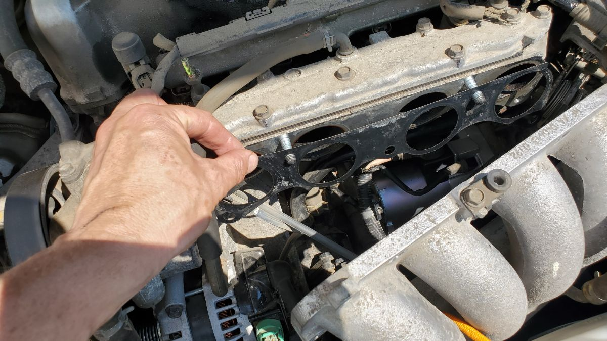 Install exhaust manifold gasket on a Honda Accord